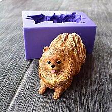 runloo Cute Pomeranian Hund Silikon Formen, 3D