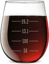 Running Gravur Weinglas Weingläser ohne Stiel |