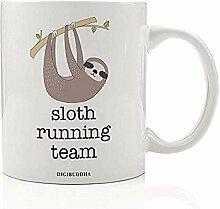 RUNNING TEAM Kaffeetasse Lustige Geschenkidee Lazy