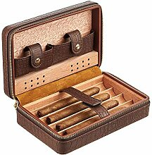 Runningfish Brown Cigar Humidor Case, Zedernholz,