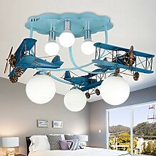 RUNNUP Pendelleuchte Kinderzimmer Lampe Flugzeug
