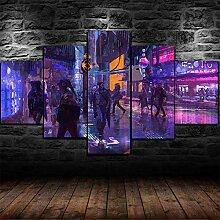 runtooer Bilder Cyberpunk City Leute 5 TLG.