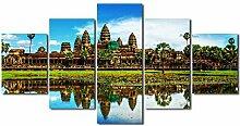 runtooer Bilder Modern Angkor Wat Tempel 5 TLG.