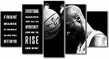 runtooer Bilder Modern Kobe Bryant Zitat 5 TLG.