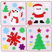 RUOXI 1X Packung Weihnachtsfenster Aufkleber