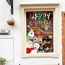 RUOXI Cartoon Schöne Weihnachten Wandaufkleber