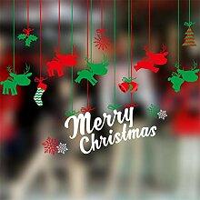RUOXI Frohe Weihnachten Fenster Wandaufkleber