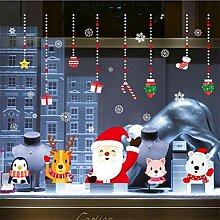 RUOXI Frohe Weihnachten Wandaufkleber Fenster Glas