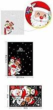 RUOXI Weihnachten DIY Kunst Wandaufkleber