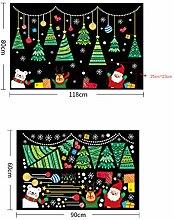 RUOXI Weihnachten DIY Wandaufkleber Weihnachten
