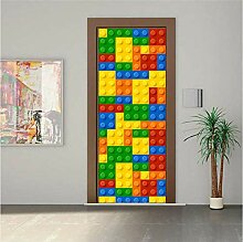 ruoxin312 Tür Aufkleber 3D Kreative Für