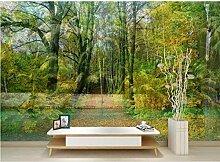 Rureng 3D Grün Wald Fototapete Tapeten Für