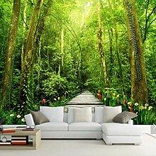 Rureng 3D Natur Wald Blume Fototapeten Fototapete
