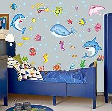 Rureng Aufkleber Fisch Wand Aufkleber Wasserdichte