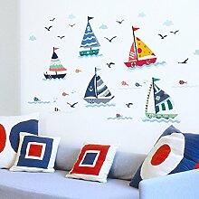Rureng Aufkleber Wasserdichte Wand Aufkleber Boot