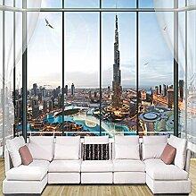Rureng Europäischen Stil 3D Stereo Fenster City