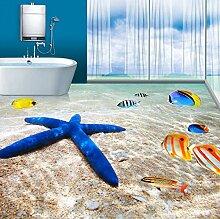 Rureng Fototapete 3D Meer Strand Starfish