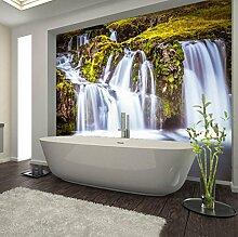 Rureng Fototapete 3D Stereo Wasserfälle Wandbild
