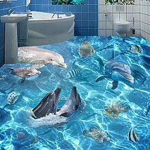 Rureng Fototapete 3D Unterwasserwelt Delfine