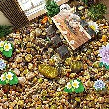 Rureng Hd Schwimmende Blume Wasser Steintapete