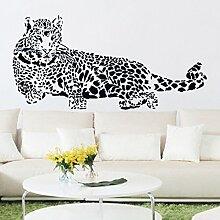 Rureng PVC-Wand Aufkleber Cheetah Leopard 3D