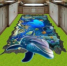Rureng Sea World Dolphin Wandbild 3D Tapete