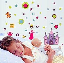Rureng Sticker Prinzessin Wand Aufkleber Für
