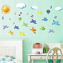 Rureng Sticker Vögel Am Himmel Wand Aufkleber
