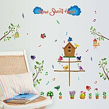 Rureng Sticker Vögel Haus Wand Aufkleber Wand