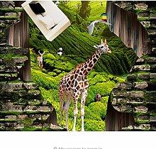 Rureng Tapete Für Kinderzimmer 3D Boden Tierwelt