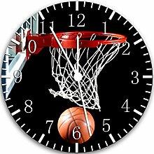 Rusch W118 Wanduhr, Basketball, 25,4 cm