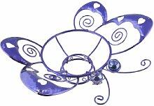 russco lll gd126481violett vergoldet Draht/Metall Metall Gazing Ball Ständer, Schmetterling