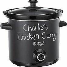 """Russell Hobbs 24180-56 Chalkboard Schongarer, Crock Pot, Slow Cooker mit matter, schwarzer """"""""Tafel""""""""-Oberfläche, 3,5L, 200 W"""