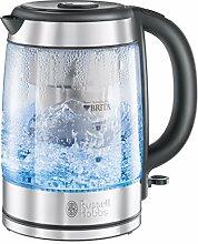 Russell Hobbs Clarity 20760-57 Glas Wasserkocher, 2200 W, 1,5 l, integrierter Brita Wasserfilter, silber