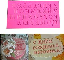 Russisch Brief Silikon Alphabet Mold Schokolade