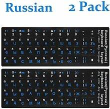 Russische Tastatur-Aufkleber, russische englische