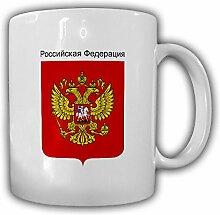 Russland Wappen Emblem Russische Föderation Kaffee Becher Tasse #13873