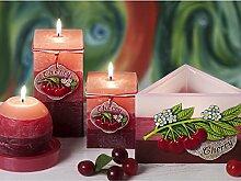 RUSTIC CHERRY Handgemachte Dekokerzen, Duftkerzen, Rustic Duftkerzen, Rustic Kerzen, Kerzen, Geschenkidee