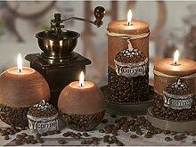 RUSTIC COFFEE BRAUN Handgemachte Dekokerze Kaffeeduft, Duftkerze, Kerze, Rustic Duftkerze, Rustic Kerze Geschenkidee