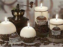 RUSTIC COFFEE CREME Handgemachte Dekokerze Kaffeeduft, Duftkerze, Kerze, Rustic Duftkerze, Rustic Kerze Geschenkidee