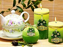 RUSTIC GREEN TEA Handgemachte Dekokerzen, Duftkerzen, Rustic Duftkerzen, Rustic Kerzen, Kerzen, Geschenkidee