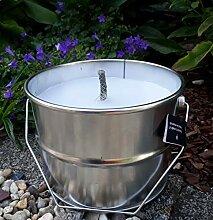 Rustik Lys Outdoor Kerze im Blech Eimer Ø 18 cm