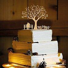 Rustikal Hochzeit Cake Topper, Couple On
