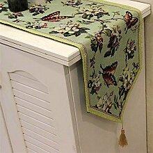 Rustikal Tisch-Sets Baumwolle Bettwäsche–memorecool Haustierhaus Schmetterling in Blumen Farbe weben kein Verblassen 1Stück 33x 45,7cm, baumwolle, only 1 runner, 13x71inch