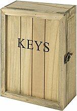 Rustikal Vintage Holz Wand montiert 6Key Haken Schrank Schrank