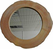 Rustikal Vintage Holz Wandspiegel für Badezimmer, Schlafzimmer, Kommoden und Home Decor Zubehör. Künstliche Holz Scheiben Design. 12–1/10,2cm X 11–3/10,2cm X 1/5,1cm D