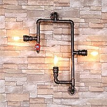 Rustikal Wandlampe Wasser Rohr Wandleuchte Retro