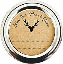 Rustikal Woodland Deer rund Aufkleber von Once