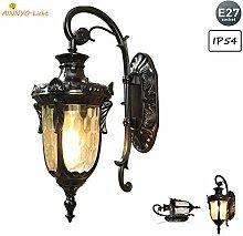 Rustikale Außen-Wandleuchte, Vintage Gartenlampe,