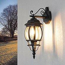 Rustikale Außenlampe Anthrazit BREST wetterfest